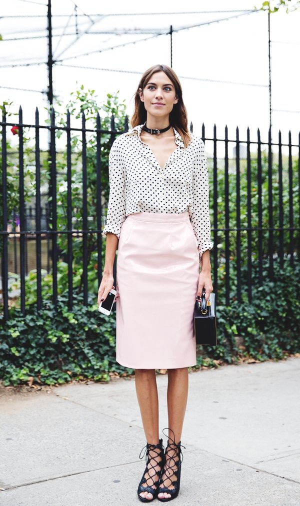 Alexa Chung SS15 New York Fashion Week