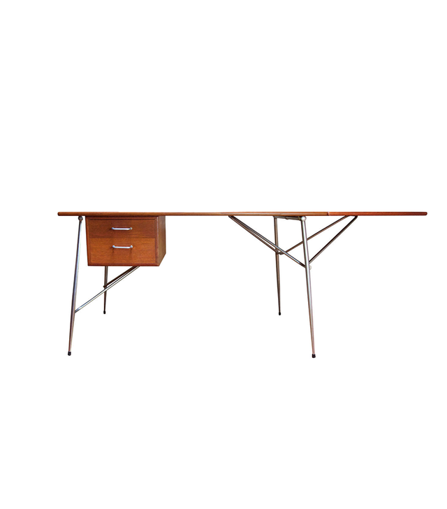 Børge Mogensen Teak Drop-Leaf Writing Desk for Soborg Mobelfabrik