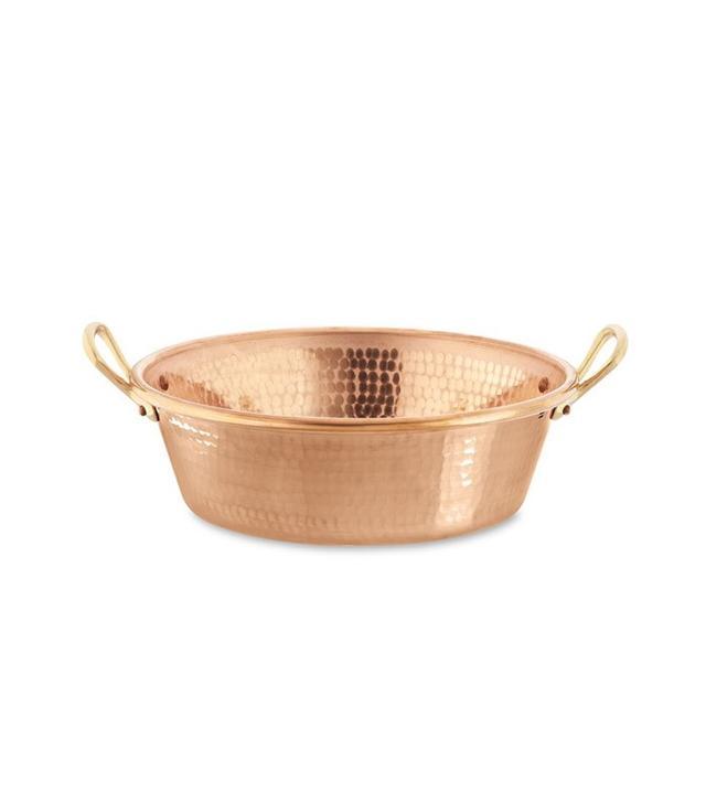 Williams-Sonoma Mauviel Hammered Copper Jam Pan