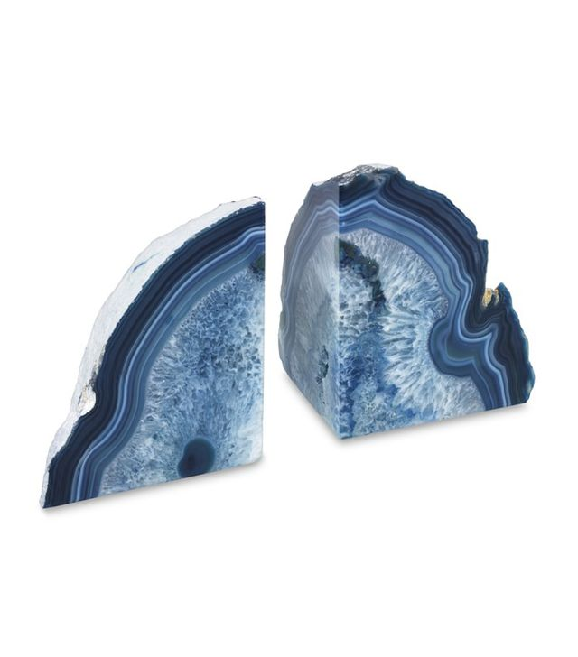 Williams Sonoma Agate Bookends