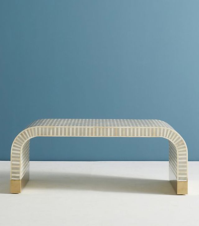 Santiago Modern Burnished Brass Drum Coffee Table: 10 Cool Kid-Friendly Coffee Tables