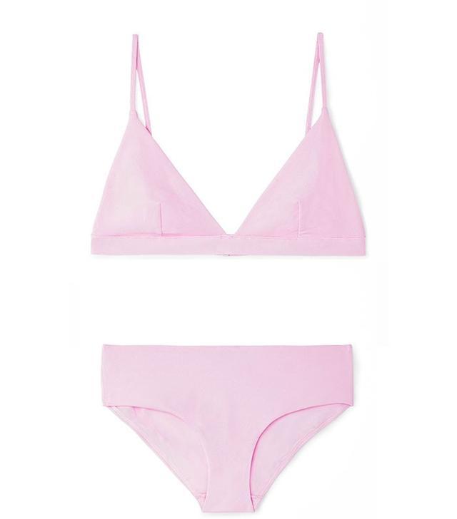Cos Textured Bikini Top