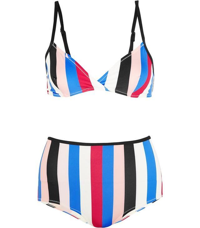 Solid and Striped The Belle and Bridget Striped Triangle Bikini