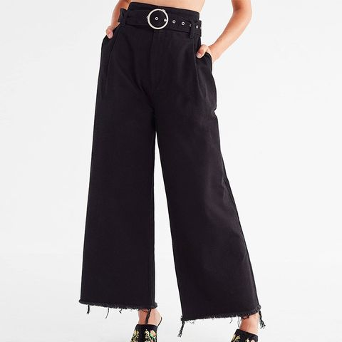 Cara Belted High-Rise Culotte Pant