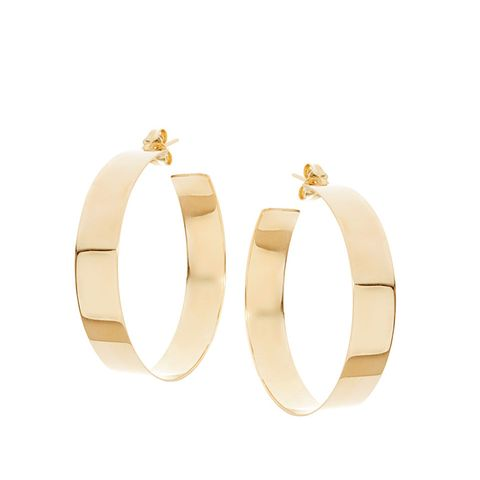 Large Vanity 14K Hoop Earrings