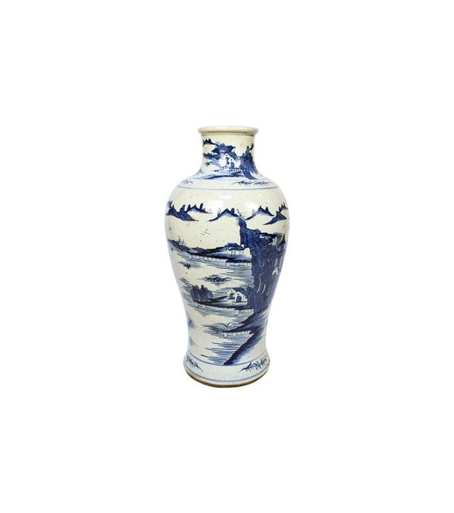 1st Dibs 20th-Century Chinese Blue and White Shan Shui Vase