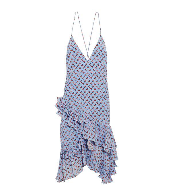 beach wedding dresses - Altuzarra Corona Ruffled Printed Silk Dress