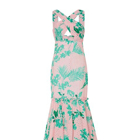 M'O Exclusive San Marcos Broderie Anglaise Cotton Dress