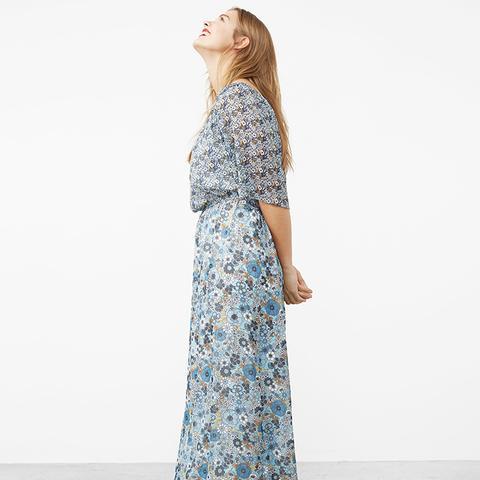 Printed Off-Shoulder Dress
