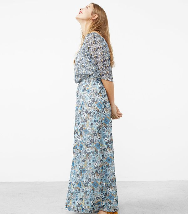 beach wedding dresses - Violeta Printed Off-Shoulder Dress