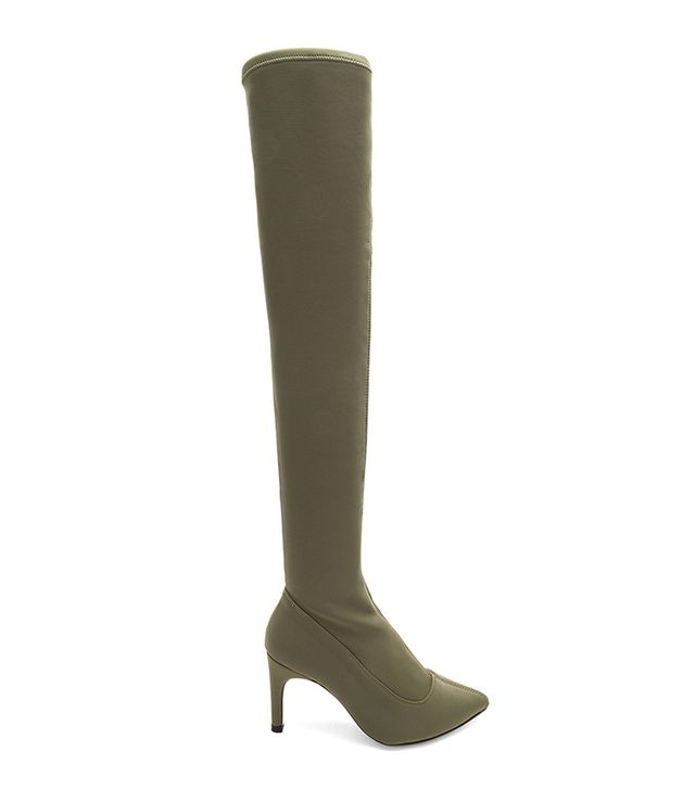 Paris Over The Knee Boot in Army. - size 36 (also in 37,38,39,40,41)