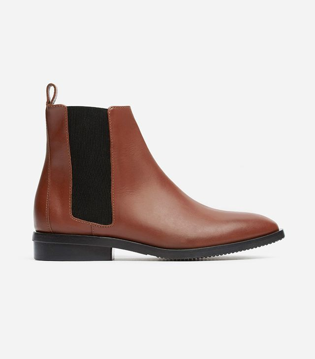 Women's Chelsea Boot by Everlane in Oxblood, Size 10.5