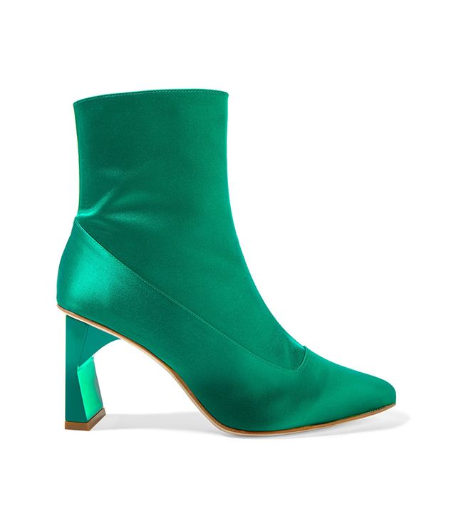 Alexis Satin Ankle Boots