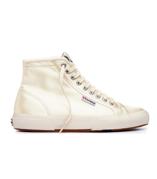Superga x AlexaChung Satin High-Top Sneakers