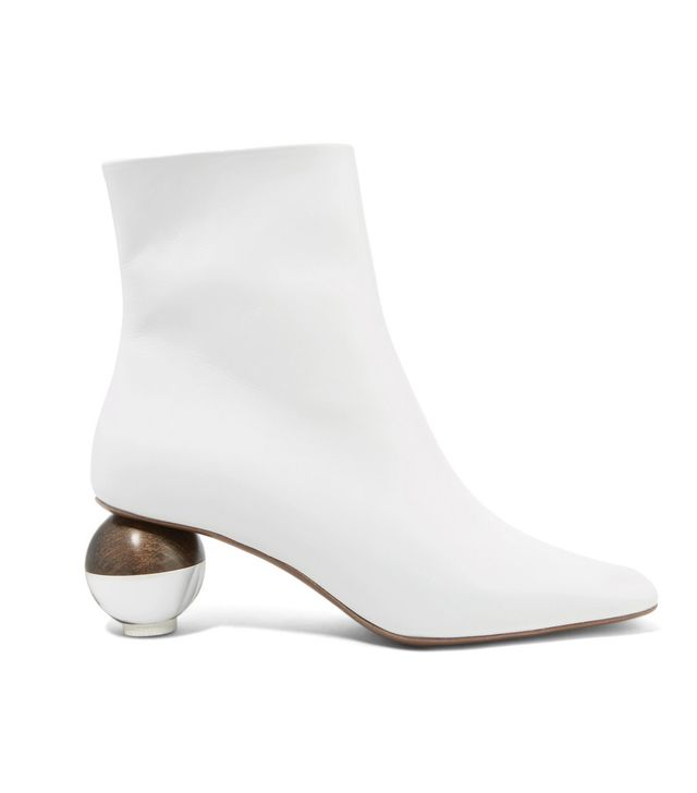 Encyclia Leather Ankle Boots