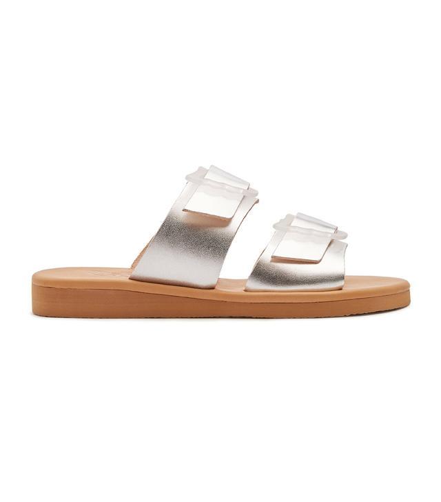 Hellea leather slides