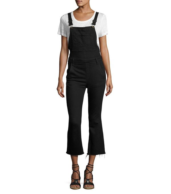 Cropped Kick-Flare Overalls