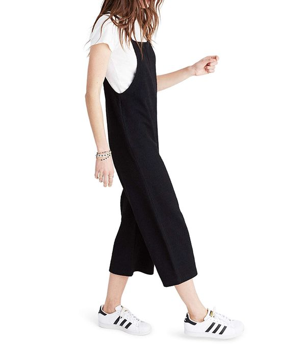 Knit Wide Leg Overalls