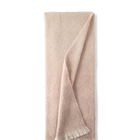 Dip Dyed Mohair Throw Blanket