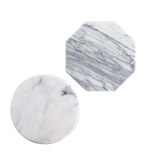 Mini Geo White Marble Cutting Boards Set of 2 by World Market