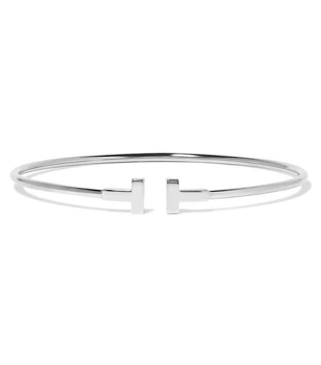 Tiffany & Co. T Wire Narrow 18-Karat White Gold Bracelet