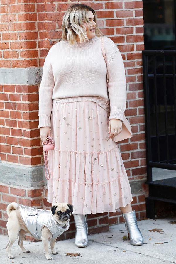 Sweater + Floral Skirt