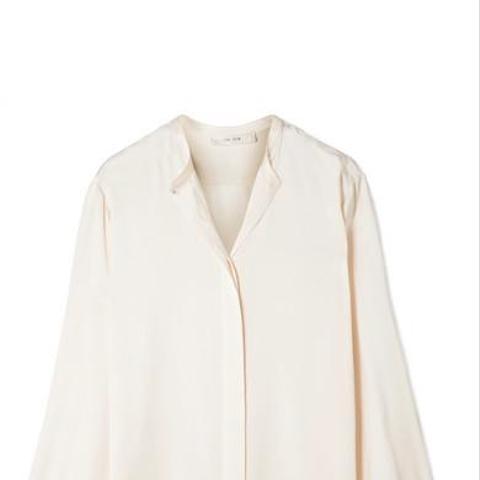 Maura Silk-satin Blouse