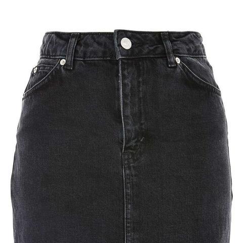 Frayed Hem Denim Miniskirt