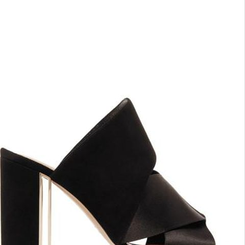 Nini Satin and Suede Mules