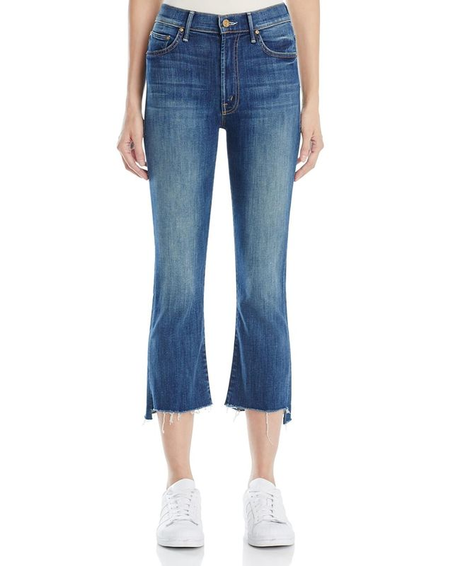 Insider Crop Step Fray Jeans in Not Rough Enough