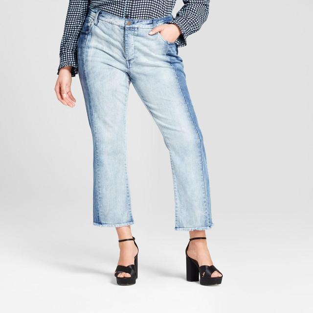 Plus Size Deconstructed Jeans
