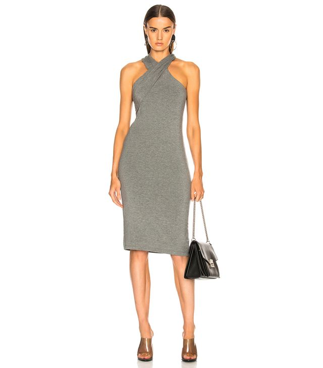T by Alexander Wang Crisscross Drape Dress