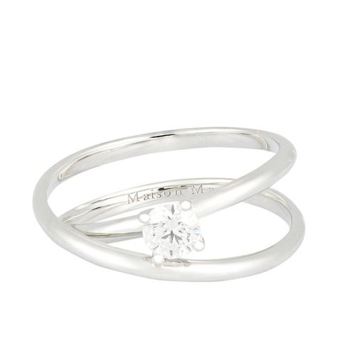 Solitaire Twisted Ring