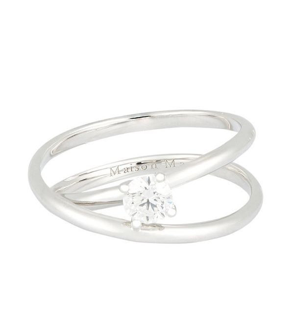 maison margiela fine solitaire twisted ring - The Most Expensive Wedding Ring