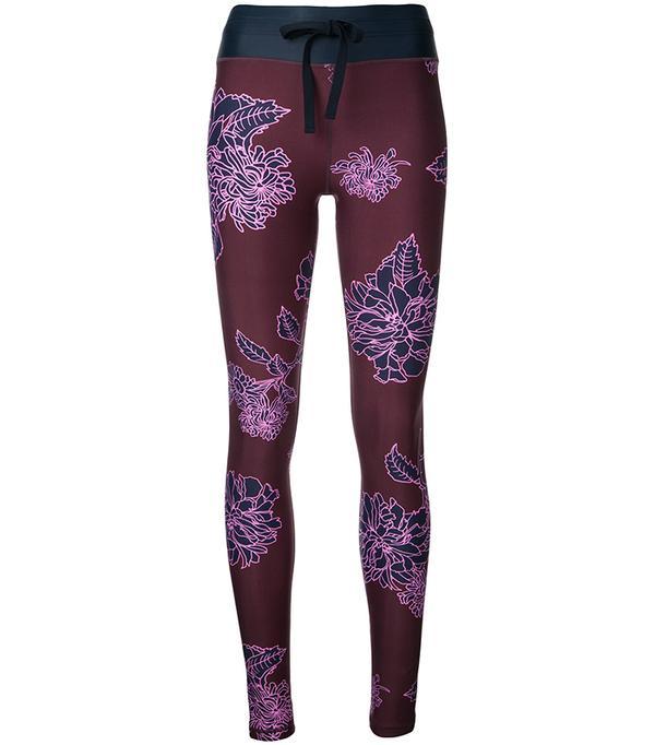 confetti print fitness leggings