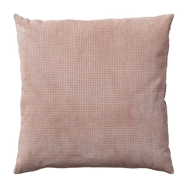 AYTM Perforated Suede Blush Pillow