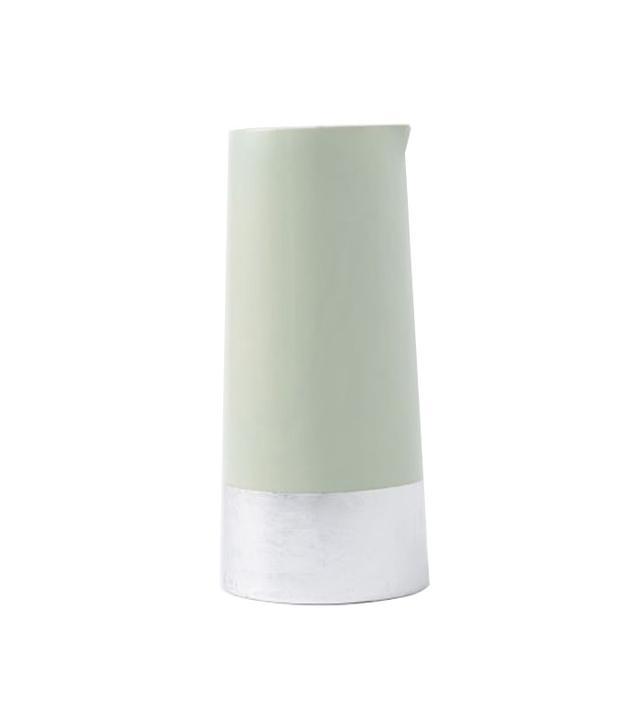 West Elm Metallic Stripe Ceramic Vase