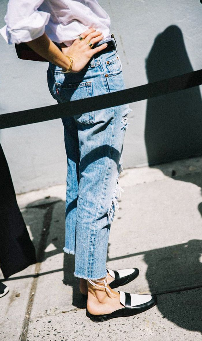 Boyfriend Jeans and Loafers