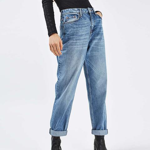 Moto High Waist Boyfriend Jeans
