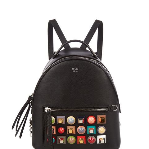 Embellished Mini Leather Backpack