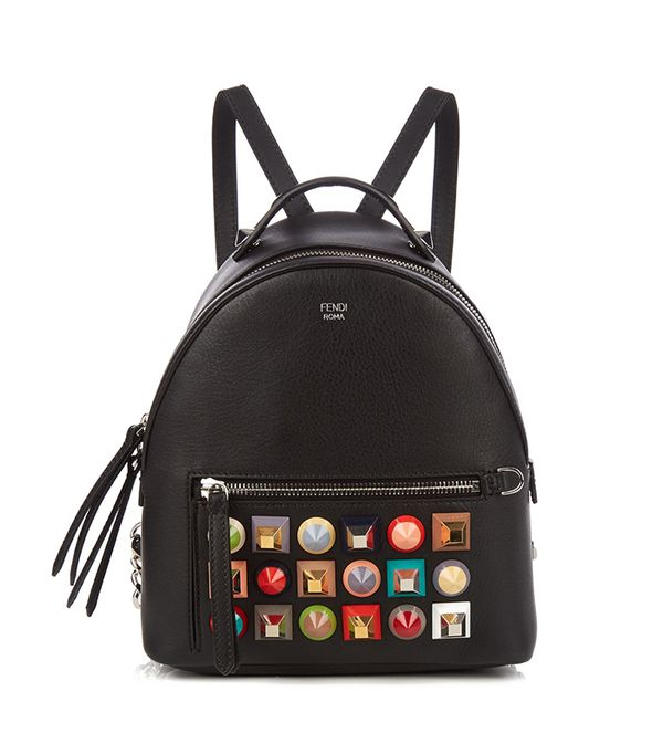 stylish backpacks - Fendi Embellished mini leather backpack