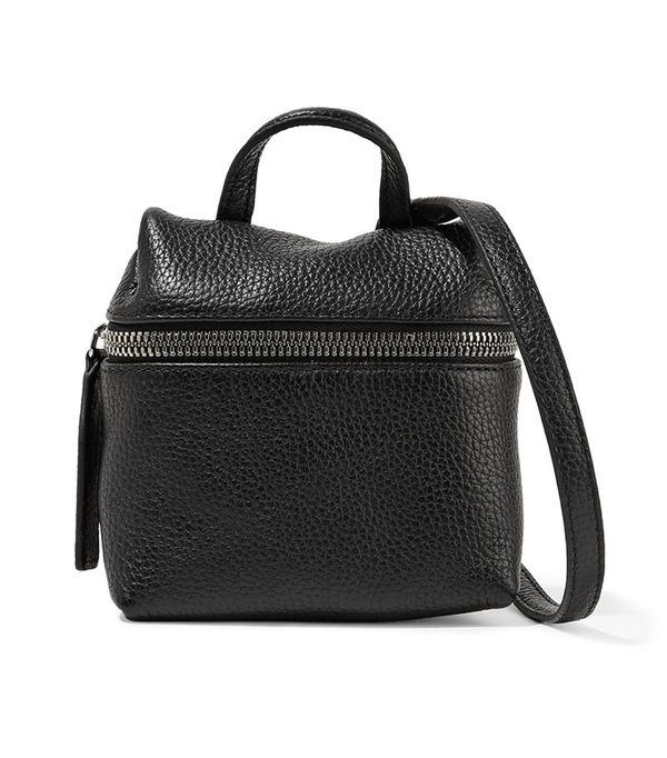 stylish leather backpacks - Kara Micro textured-leather shoulder bag