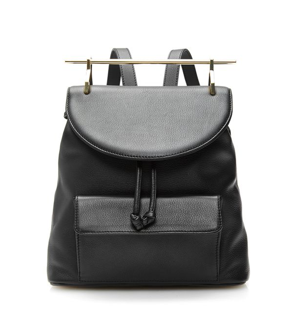 best leather backpacks - M2Malletier Calf Leather Backpack In Black