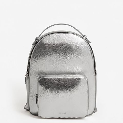 Zip pebbled backpack