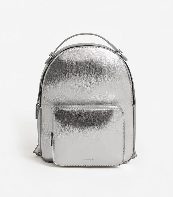 stylish backpacks - Mango Zip pebbled backpack