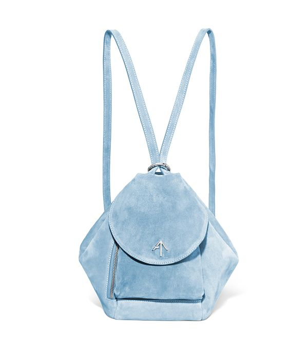 best leather backpacks - Manu Atelier Fernweh suede backpack
