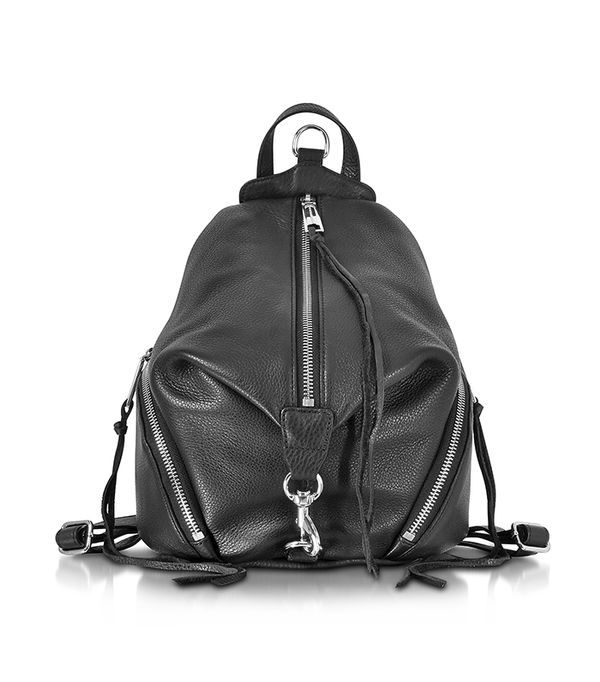 best leather backpacks - Rebecca Minkoff Julian Black Leather Medium Backpack