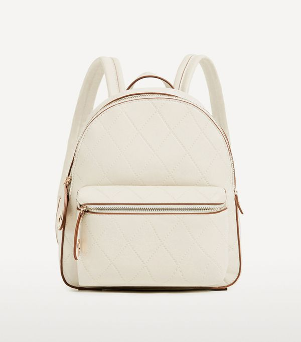 stylish leather backpacks - Zara Embossed Pocket Backpack