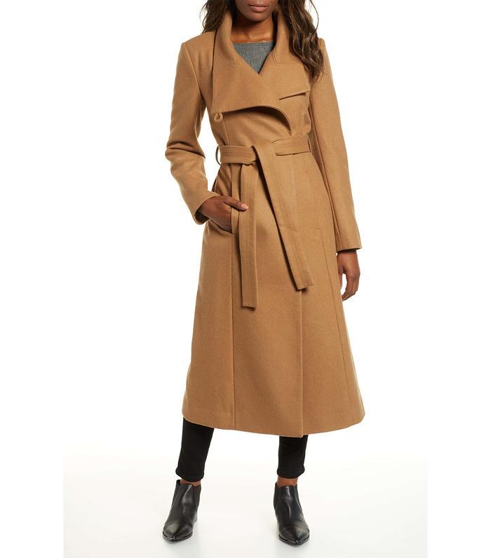 Kenneth Cole Fencer Melton Wool Maxi Coat