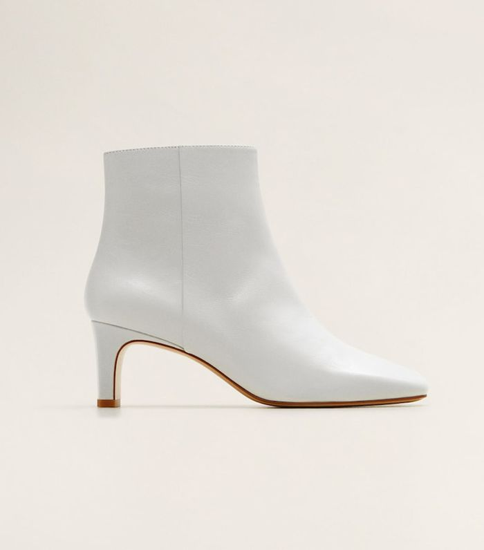 Mango Heel Leather Ankle Boots